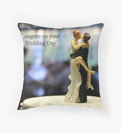 Wedding with some humour Throw Pillow