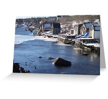Herring Cove - Coastal Village Greeting Card
