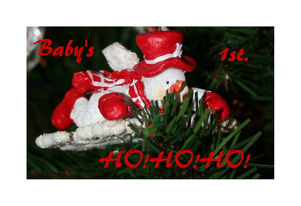 Baby's 1st. HO!HO!HO! by Madeline M  Allen