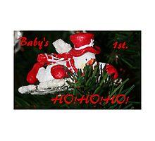 Baby's 1st. HO!HO!HO! Photographic Print