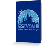 Visit (blue) Greeting Card