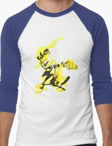 Electabuzz Splatter Men's Baseball ¾ T-Shirt