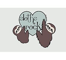 Sloths Rock Photographic Print