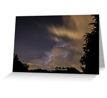 Lightning within the Clouds Greeting Card