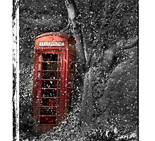 phone box christmas card by Dave Warren