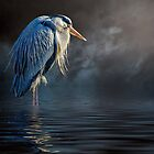 Blue Heron Moon by Tarrby