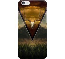 Deer skull in rocky mountains iPhone Case/Skin