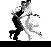 Clay and Lisette Dancing by Carbon-Fibre Media