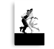 Clay and Lisette Dancing Canvas Print