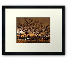 New York City and Wind Framed Print