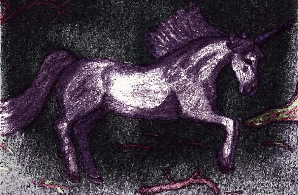 Wild unicorn by DarkViolet