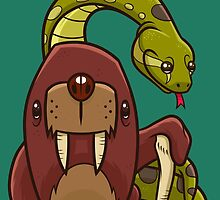 The Walrus and the Anaconda by artdyslexia