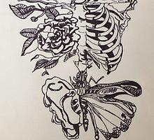 Skeleton Rose by lindsaymhuba