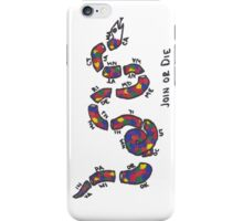 "LGBTQ+ Benjamin Franklin ""Join or Die"" Parody iPhone Case/Skin"