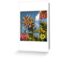 Colours of Autumn in Mirrored Frame Greeting Card