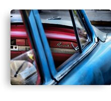 Red and Blue and Plymouth Canvas Print