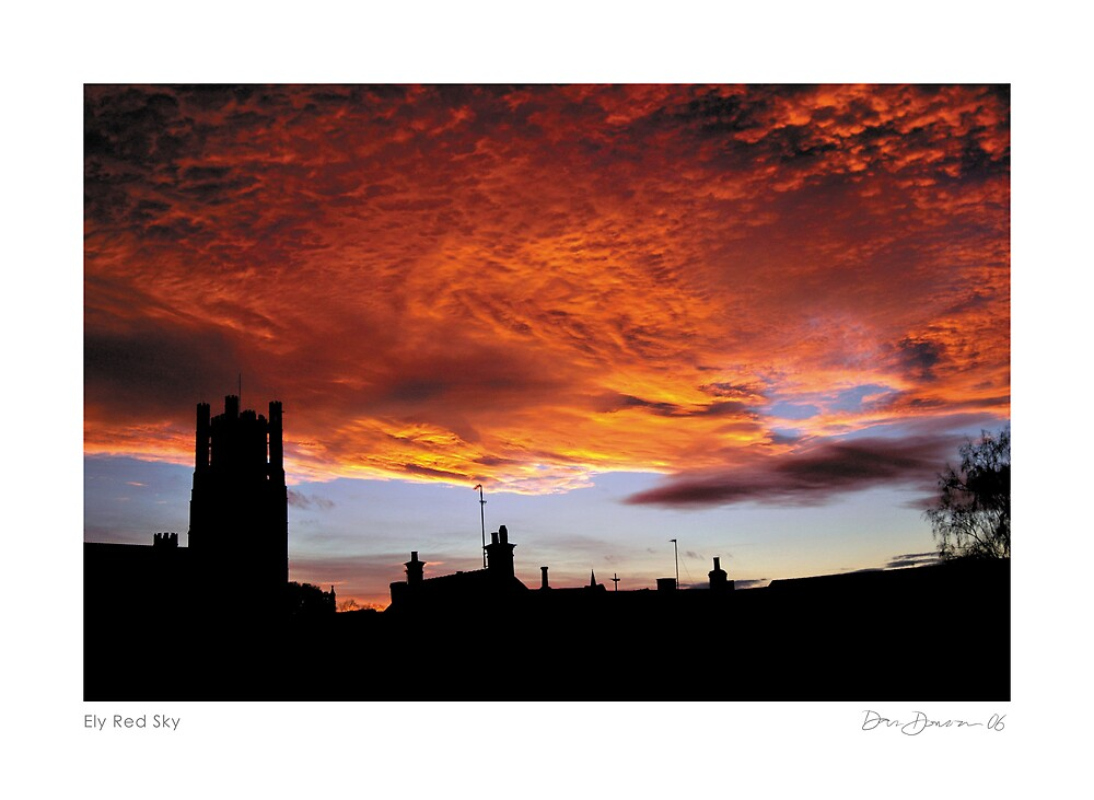 Ely Red Sky by Dan Donovan