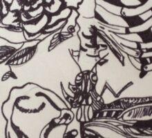 Skeleton Rose Sticker