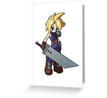 Final Fantasy VII - Cloud Strife Greeting Card