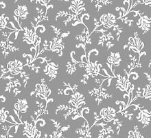 Antique Vintage Floral Leaf Pattern by sale