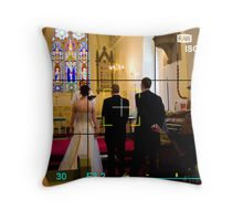 A Wedding View Throught The Lens Throw Pillow