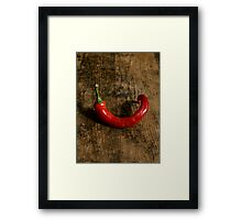 Lone Chili Framed Print