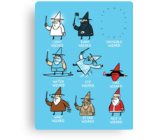 Know Your Wizards ! Canvas Print