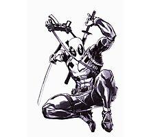 Deadpool Comic Book Drawing.  Photographic Print