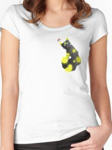 Umbreon wolf pokemon Women's Fitted Scoop T-Shirt