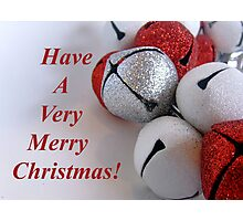 Jingle Bells Text Photographic Print