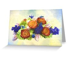 A Beautiful Life - Vintage Flower Art Greeting Card