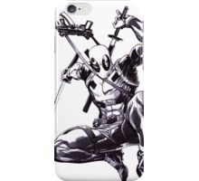 Deadpool Comic Book Drawing.  iPhone Case/Skin