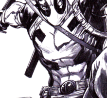 Deadpool Comic Book Drawing.  Sticker