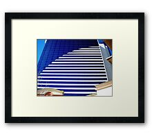 Blue Glass Tower ^ Framed Print