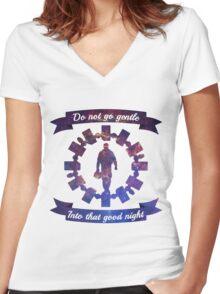 Do Not Go Gentle Women's Fitted V-Neck T-Shirt
