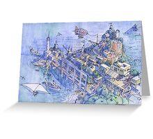 paesaggio di fantasia 02 Greeting Card