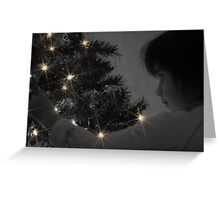 A Childs Glow at Christmas Time Greeting Card