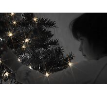 A Childs Glow at Christmas Time Photographic Print
