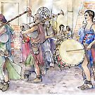 Musicisti medievali by Luca Massone  disegni
