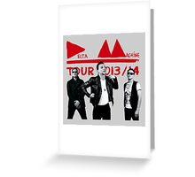 Depeche Mode : Tour 2013/14 Delta Machine and an official photo Greeting Card