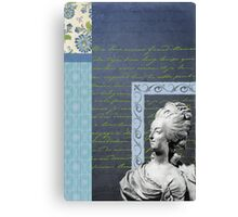 Statue in Blue Canvas Print
