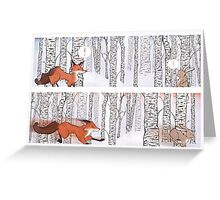 A Winter Race, Rabbit and Fox Greeting Card