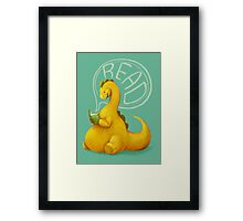 Even Dinosaurs Love to Read Framed Print