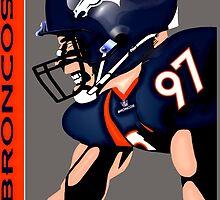 NFL Denver Broncos by Dan Snelgrove