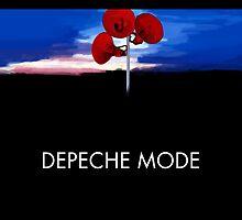 Depeche Mode : Music For The Masses Paint 2 - DM - Black Shirt by Luc Lambert