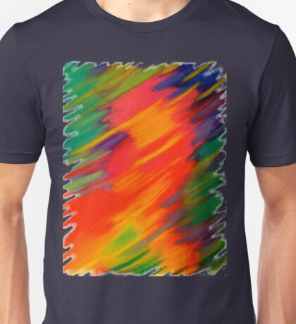 Rhapsody of Colors (v.2) – Abstract Pastel Drawing Unisex T-Shirt