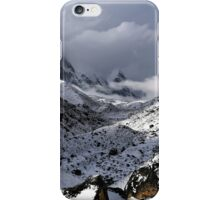 Fresh snow in Lobuche with Pumori (Unmarried Daughter) 7161 and Lingtren iPhone Case/Skin