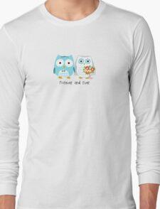 Owls Wedding Bride and Groom Long Sleeve T-Shirt