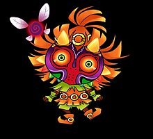 Tael and the Skull Kid by pixelpoe