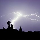 Lightning Over Angkor by MarkStanden